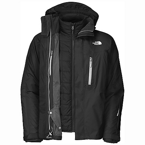 On Sale. Free Shipping. The North Face Men's Crestridge Triclimate Jacket DECENT FEATURES of The North Face Men's Crestridge Triclimate Jacket Waterproof, breathable, fully seam sealed Adjustable EZD-tach hood Chest pockets Handwarmer zip pockets Core vents Wrist accessory pocket with goggle cloth Internal goggle pocket Powder skirt Adjustable hem system Adjustable cuff tabs (Tricimate) Zip-in Zip hand pockets The SPECS Average Weight: 50.79 oz / 1440 g Center Back Length: 29.5in. Shell: 70D x 160D 142 g/m2 HyVent 2L nylon dobby (bluesign approved fabric) Liner: 50D 77 g/m2 100% polyester ripstop Insulation: 100 g Heatseeker This product can only be shipped within the United States. Please don't hate us. - $279.99
