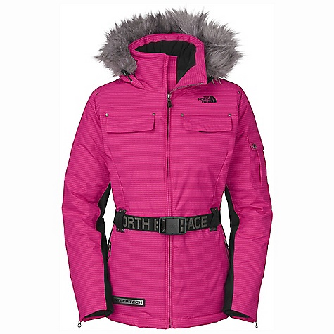 Free Shipping. The North Face Women's ST Peak 7 Down Jacket DECENT FEATURES of The North Face Women's ST Peak 7 Down Jacket Active fit Adjustable waist belt Dual chest pockets Dual hand pockets Detachable fur collar Drop hood Side stretch panels The SPECS Average Weight: 45.86 oz / 1300 g Center Back Length: 28in. Shell: HyVent 2L ripstop Side Panels: 88% polyester, 12% elastane single-sided brushed fleece Lining: Taffeta Insulation: 550 fill down This product can only be shipped within the United States. Please don't hate us. - $348.95