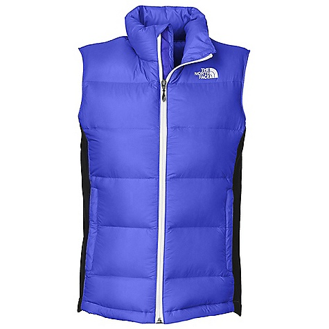 On Sale. Free Shipping. The North Face Women's Crimptastic Hybrid Down Vest DECENT FEATURES of The North Face Women's Crimptastic Hybrid Down Vest Wind resistant, breathable Hybrid construction with 600 fill down in the body Polartec Power Stretch fleece in side panels Zip hand pockets Internal security pocket Imported The SPECS Average Weight: 11.29 oz / 320 g Center Back Length: 25in. Shell: 20D 37 g/m2 100% nylon mini-ripstop with DWR Panels: 230 g/m2 88% polyester, 12% elastane jersey face fleece (bluesign approved fabric) Lining: Embossed downproof taffeta Insulation: 600 fill down This product can only be shipped within the United States. Please don't hate us. - $117.99