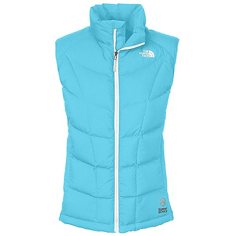 On Sale. Free Shipping. The North Face Women's A-Back Hybrid Down Vest DECENT FEATURES of The North Face Women's A-Back Hybrid Down Vest Wind resistant, breathable Hybrid construction with 700 fill down in the body Polartec Power Stretch fleece in side panels hand warmer pockets Internal security pocket The SPECS Average Weight: 12.35 oz / 350 g Center Back Length: 24in. Body: 50D 83 g/m2-100% polyester 2L Gore Windstopper plain weave Side Panels: Polartec Power Stretch Lining: Embossed downproof taffeta Insulation: 700 fill down This product can only be shipped within the United States. Please don't hate us. - $175.99