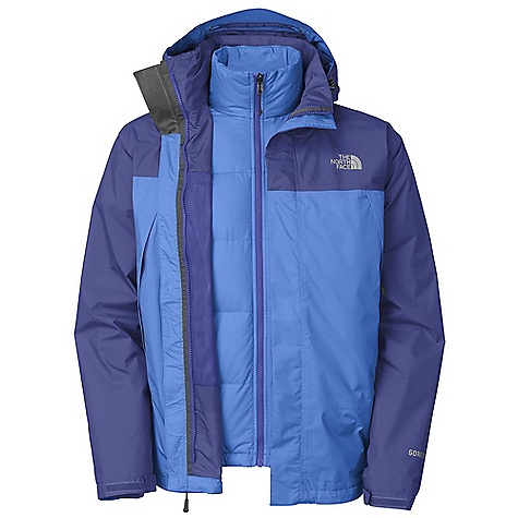 On Sale. Free Shipping. The North Face Men's Mountain Light Triclimate Jacket DECENT FEATURES of The North Face Men's Mountain Light Triclimate Jacket Imported Waterproof, breathable, seam sealed Zip-in compatible integration with complementing garments from The North Face Adjustable removable hood Two vented alpine pockets Adjustable cuff tabs Center front storm flap with zip and Velcro closure Hem cinch-cord Bound cuffs Hem cinch-cord The SPECS Average Weight: 37.04 oz / 1050 g Center Back Length: 30in. Body: 40D 105 g/m2 (3.045 oz/yd2) 100% polyester Triclimate: 550 fill goose down, TKA Super stretch fleece This product can only be shipped within the United States. Please don't hate us. - $261.99