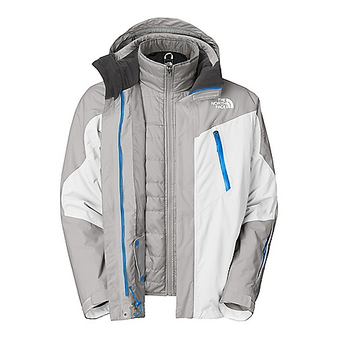 On Sale. Free Shipping. The North Face Men's Headwall Triclimate Jacket DECENT FEATURES of The North Face Men's Headwall Triclimate Jacket Waterproof, breathable, fully seam sealed Adjustable EZD-tach hood Handwarmer zip pockets Core vents Wrist accessory pocket with goggle cloth PU chest pocket Internal goggle pocket Powder skirt Adjustable hem system Adjustable cuff tabs (Tricimate) Zip-in Zip hand pockets Imported The SPECS Average Weight: 48.39 oz / 1372 g Center Back Length: Shell 31in., liner 26.5in. Shell: 70D x 160D HyVent 2L nylon dobby Liner: 50D 77 g/m2 polyester taffeta Insulation: 80 g Heatseeker This product can only be shipped within the United States. Please don't hate us. - $223.99