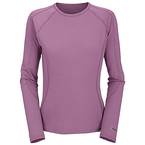The North Face Women's Light L-S Crew Neck DECENT FEATURES of The North Face Women's Light Long Sleeve Crew Neck Crew neck Flat-locked seams Logo tag Imported The SPECS Average Weight: 3.35 oz / 95 g Center Back Length: 25.5in. 115 g/m2 89% polyester 11% polyolefin Hi-mechanical stretch double knit with Flash Dry fiber This product can only be shipped within the United States. Please don't hate us. - $44.95