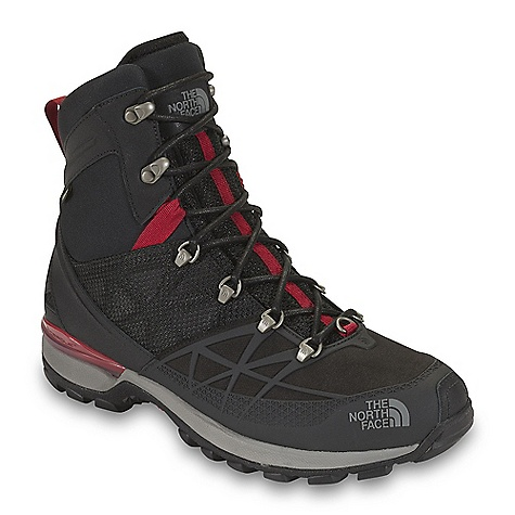 On Sale. Free Shipping. The North Face Men's Iceflare Tall GTX DECENT FEATURES of The North Face Men's Iceflare Tall GTX Upper: Waterproof, PU-coated leather and ballistic mesh upper Injection-molded TPU mudguard Form-fitting Neoprene collar improves fit and comfort Medial and lateral X-Frame Roll Control stabilizer Gore-Tex waterproof, breathable membrane Zonal insulation package employs 400 g PrimaLoft Eco insulation in the forefoot / toes and 200 g PrimaLoft Eco insulation throughout the rest of the boot Mylar heat-trapping zones in the forefoot, tongue and underfoot Northotic+ dual-density foot bed with softer heel and forefoot pads Bottom: TPU and EVA Cradle heel-stability and cushioning technology Lightweight, compression-molded EVA midsole Durable TNF Winter Grip rubber outsole Ice Pick temperature-sensitive lugs for increased winter traction Imported The SPECS Last: TNF-001 Approx Weight: 1/2 pair: 1 lb 6 oz / 630 g, pair: 2 lbs 12 oz / 1260 g This product can only be shipped within the United States. Please don't hate us. - $125.99