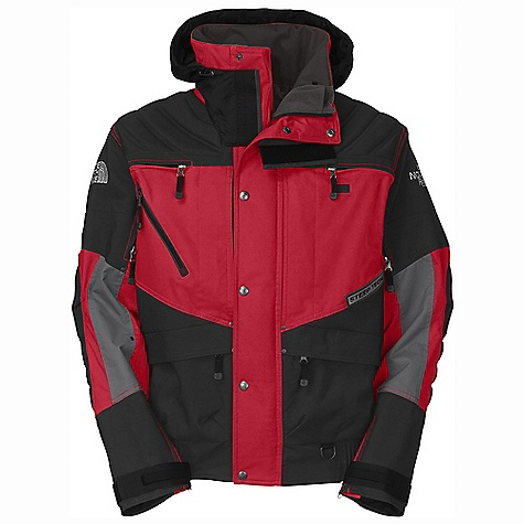 Free Shipping. The North Face Men's ST Apogee Jacket DECENT FEATURES of The North Face Men's ST Apogee Jacket Padding at shoulder, elbow and center back Two handwarmer pockets Elastic waist Front chest vents Chest pocket Stowaway hood Hook-and-loop watchband sleeve cuffs The SPECS Average Weight: 40.57 oz / 1150 g Center Back Length: 27in. 100% nylon with DWR combined with oxford nylon fabric This product can only be shipped within the United States. Please don't hate us. - $420.00