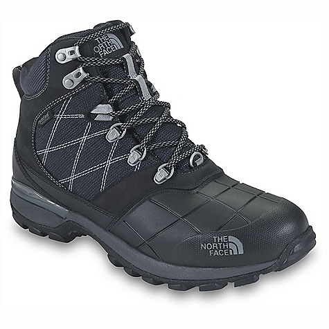 The North Face Men's Snowsquall Mid is a lightweight Snow boot for taking on Snowy trails, winter walks, and even a little bit of shoveling. The Snowsquall Mid comes up two to three fingers above the ankle, resting Higher up for ample support while walking as well as helping deter Snow from finding it's way inside. The Upper toe is a compression-molded EVA half shell, which not only reduces weight but still provides much needed durability as you trudge across Snow-covered ground. The remainder of the boot is constructed from a waterproof nubuck and ballistic mesh Upper for additional flexibility and movement and a HydroSeal; waterproof membrane for dry feet. The zonal Insulation in the boot Uses Primaloft Eco, 400g in the forefoot and toes with 200g throughout the remainder. This provides extra warmth where you need it most, and a little less where you don't. Super handy. The rubber Outsole is made from TNF Winter Grip and IcePick temperature sensitive lugs for steady, grippy action over wet, Snowy, and icy terrain. Features of The North Face Men's Snowsquall Mid Upper: Waterproof, BLC-compliant nubuck and ballistic mesh Upper Protective PU-coated leather midfoot mudguard HydroSeal waterproof membrane Zonal Insulation package employs 400 g PrimaLoft Eco Insulation in the forefoot/toes and 200 g PrimaLoft Eco Insulation throughout the rest of the boot Mylar heat-trapping zones in the tongue and underfoot Lightweight, protective, compression-molded EVA half shell reduces weight and promotes walkability Northotic Pro upgraded EVA Footbed with Poron ReSource heel and forefoot-cushioning pads and ESS Cradle support and cushioning system Bottom: TPU and EVA Cradle heel-stability and cushioning Technology Lightweight, compression-molded EVA Midsole Durable TNF Winter Grip rubber Outsole IcePick temperature-sensitive lugs for increased winter traction - $83.99