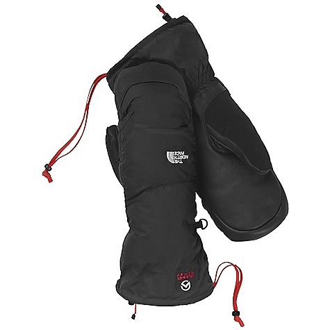 Free Shipping. The North Face Nuptse Mitt DECENT FEATURES of The North Face Nuptse Mitt 5 Dimensional Fit Water-resistant, breathable materials Reinforced palm and finger cap Imported The SPECS Shell: Nylon ripstop (DWR) Lining: Flash Dry (150 g) Palm: Water-resistant leather Palm: 600 fill down Insulation: 600 fill down This product can only be shipped within the United States. Please don't hate us. - $119.95