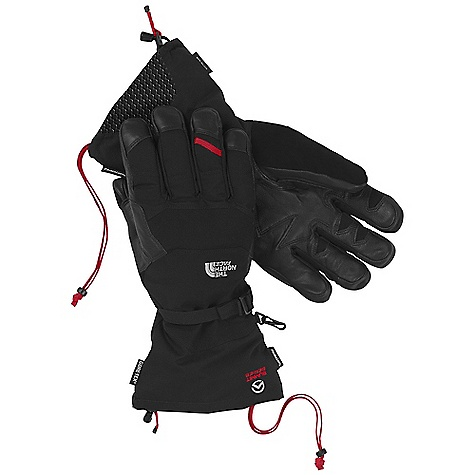 Free Shipping. The North Face Meru Glove DECENT FEATURES of The North Face Meru Glove Gore-Tex X-Trafit insert technology provides maximum dexterity and waterproof breathable protection Thermo3D thermal-mapped construction for superior warmth 5 Dimensional Fit ensures consistent sizing Radiametric Articulation keeps hands in their natural relaxed position Removable liner provides an additional layer of warmth when needed Reinforced leather palm with overlays provides maximum durability Full-length gauntlet blocks out the elements and keeps warmth in High-pile palm lining for maximum warmth on cold tools The SPECS Shell: Stretch nylon 2L (DWR) Lining: 100% polyester with FlashDry Palm: Water-resistant leather Palm Insulation: High-pile fleece Back-of-Hand Insulation: 200 g PrimaLoft One Insert: Gore-Tex X-Trafit This product can only be shipped within the United States. Please don't hate us. - $179.95
