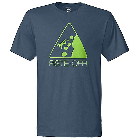 On Sale. The North Face Men's Piste Tee DECENT FEATURES of The North Face Men's Piste Tee Crew neck The SPECS Average Weight: 6.6 oz / 187 g Center Back Length: 28.5in. 100% cotton This product can only be shipped within the United States. Please don't hate us. - $19.99