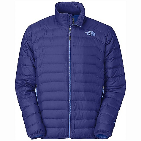 Free Shipping. The North Face Men's Santiago Jacket DECENT FEATURES of The North Face Men's Santiago Jacket Two secure zip hand pockets Stows in hand pocket Elastic bound cuff and hem The SPECS Average Weight: 15.52 oz / 440 g Center Back Length: 26.75in. Body: 20D 40 g/m2 (1.14 oz/yd2) 50% nylon 50% polyester Insulation: 600 fill down This product can only be shipped within the United States. Please don't hate us. - $199.00