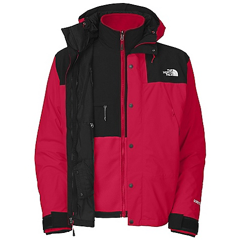 On Sale. Free Shipping. The North Face Men's Mountain Denali Triclimate Jacket DECENT FEATURES of The North Face Men's Mountain Denali Triclimate Jacket Waterproof, breathable, seam sealed Imported Zip-in compatible integration with complementing garments from The North Face Two vented alpine pockets Pit-zips Fully adjustable hood Adjustable cuff tabs Center front storm flap with zip and Velcro closure Numbered limited edition (Triclimate) Abrasion-resistant shoulders and elbows Napoleon chest pocket Elastic bound cuffs Two secure zip hand pockets Chest pocket Pit-zips The SPECS Average Weight: 60.67 oz / 1720 g Center Back Length: 29in. Body: 40D 105 g/m2 (3.1 oz/yd2) 100% nylon Gore-Tex Shell 2L ripstop Triclimate: Recycled Polartec 300 Series fleece with DWR (bluesign approved fabric) This product can only be shipped within the United States. Please don't hate us. - $323.99