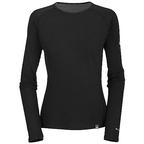 Free Shipping. The North Face Women's Warm Merino L-S Crew Neck DECENT FEATURES of The North Face Women's Warm Merino Long Sleeve Crew Neck Crew neck Flat-locked seams Logo print Drop-tail hem Imported The SPECS Average Weight: 6.17 oz / 175 g Center Back Length: 25.5in. 180 g/m2 33% merino wool, 38% polyolefin, 29% polyester double knit with FlashDry This product can only be shipped within the United States. Please don't hate us. - $79.95