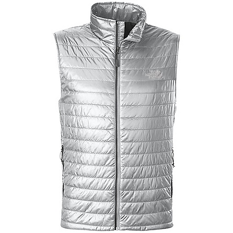 Free Shipping. The North Face Men's Blaze Vest DECENT FEATURES of The North Face Men's Blaze Vest Two secure-zip hand pockets Stows in hand pocket Center front three-color Vislon zip closure Imported The SPECS Average Weight: 7 oz / 200 g Center Back Length: 27.5in. Body: 20D 40 g/m2 (1.16 oz/yd2) 100% recycled polyester Insulation: 60 g 100% polyester Insulation with FlashDry This product can only be shipped within the United States. Please don't hate us. - $129.95