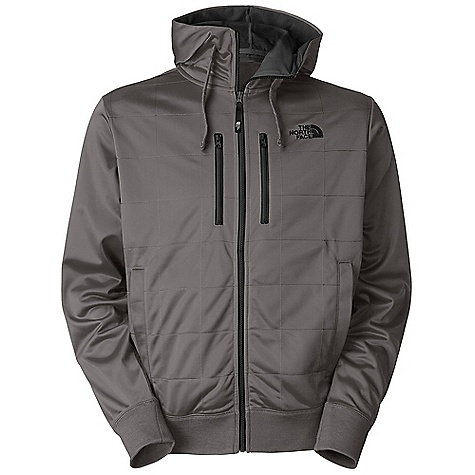 Free Shipping. The North Face Men's Sandoval Full Zip Hoodie DECENT FEATURES of The North Face Men's Sandoval Full Zip Hoodie Contrast-color lined hood with drawcord Jersey fabric balaclava in hood Quilted body Two contrast-color chest zip pockets Media egress in left chest pocket Welted hand pockets Embroidered logo at left chest Imported The SPECS Average Weight: 27 oz / 770 g Center Back Length: 27.5in. Body: 270 g/m2 100% polyester tricot fleece Balaclava: 140 g/m2 100% spun polyester jersey 180 g/m2 50% cotton 50% polyester jersey This product can only be shipped within the United States. Please don't hate us. - $84.95