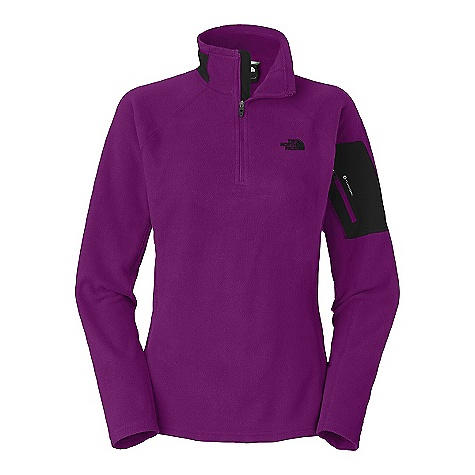 Free Shipping. The North Face Women's RDT 100 1-2 Zip Jacket DECENT FEATURES of The North Face Women's RDT 100 1/2 Zip Jacket Secure-zip bicep pocket Quarter zip for venting TNF Apex stretch woven at collar and bicep pocket for abrasion resistance The SPECS Average Weight: 7.41 oz / 210 g Center Back Length: 25.75in. 70D 155 g/m2 (5.46 oz/yd2) 100% polyester with FlashDry This product can only be shipped within the United States. Please don't hate us. - $64.95