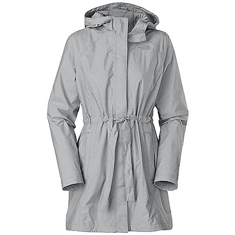 Free Shipping. The North Face Women's Sophia Rain Jacket DECENT FEATURES of The North Face Women's Sophia Rain Jacket Fixed hood with adjustable drawcord Double flap at center front with internal media pocket with egress and cord guide Welted zip hand pockets External self fabric drawcord at waist Back vent with button closure provides freedom of movement Embroidered logo at left chest and back right shoulder Imported The SPECS Average Weight: 20 oz / 570 g Center Back Length: 35in. Body: 40D 95 g/m2 80% nylon, 20% polyester HyVent 2L melange twill Lining: 70D 63 g/m2 100% nylon taffeta This product can only be shipped within the United States. Please don't hate us. - $198.95