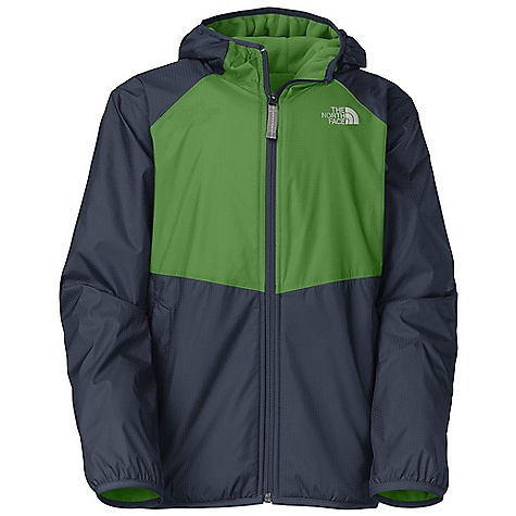 Free Shipping. The North Face Boys' Warp Tide Reversible Wind Jacket DECENT FEATURES of The North Face Boys' Warp Tide Reversible Wind Jacket Fixed hood Reflective zipper pull at center front Zippered hand pockets on taffeta side Elastic binding at hood opening and cuffs Reflective logo at left chest and back right shoulder Imported The SPECS Average Weight: 11.11 oz / 315 g Center Back Length: 21.5in. 40D 40 g/m2 100% nylon ripstop with DWR, reverses to 70D 160 g/m2 100% polyester fleece This product can only be shipped within the United States. Please don't hate us. - $84.95