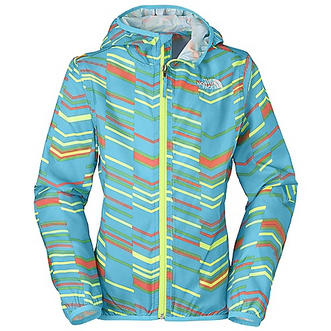 Free Shipping. The North Face Girls' Carina Wind Jacket DECENT FEATURES of The North Face Girls' Carina Wind Jacket Fixed hood Welt hand pockets Elastic binding at hood, cuffs and hem ID label Embroidered logo at left chest and back right shoulder The SPECS Average Weight: 5.01 oz / 142 g Center Back Length: 21.75in. 75D 77 g/m2 100% polyester printed taffeta with DWR This product can only be shipped within the United States. Please don't hate us. - $49.95