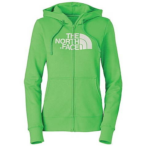 Free Shipping. The North Face Women's Half Dome Full Zip Hoodie DECENT FEATURES of The North Face Women's Half Dome Full Zip Hoodie Soft, comfortable, easy-care fabric Double-layered hood with drawcord Screen-printed logo at chest Kangaroo hand pockets 1x1 rib at cuffs and hem The SPECS Average Weight: 16.8 oz / 476 g Center Back Length: 25.25in. 280 g/m2 80% cotton 20% polyester fleece This product can only be shipped within the United States. Please don't hate us. - $54.95
