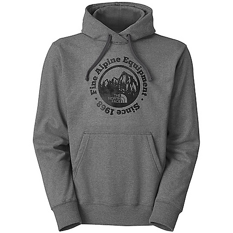 The North Face Men's Lost Alpines Pullover Hoodie DECENT FEATURES of The North Face Men's Lost Alpines Pullover Hoodie Soft, comfortable, easy-care fabric Double-layered hood with drawcord Screen-printed graphic at chest Kangaroo hand pocket 1x1 rib at cuffs and hem The SPECS Average Weight: 25 oz / 700 g Center Back Length: 27.25in. 280 g/m2 80% cotton, 20% polyester fleece This product can only be shipped within the United States. Please don't hate us. - $44.95