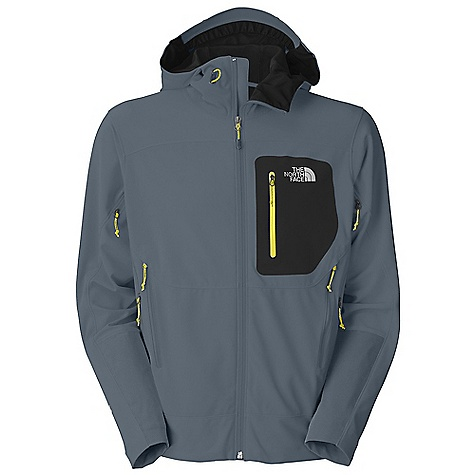 On Sale. Free Shipping. The North Face Men's Alpine Project Soft Shell Jacket DECENT FEATURES of The North Face Men's Alpine Project Soft Shell Jacket Gore Wind Stopper stretch woven nylon is windproof and weather resistant and has a wide comfort range Fully adjustable, helmet-compatible hood with hidden cord locks and laminated brim Harness-and pack-friendly alpine hand warmer pockets Pit-zip vents Welded, zippered chest pocket Hidden hem cinch-cord at center front zip No-rise hem is slightly longer in the back Summit Series collection is harness and pack-compatible Imported The SPECS Average Weight: 1 lb 3 oz / 530 g Center Back Length: 28in. 202 g/m2 Gore Wind Stopper 3L with four-way stretch-55% nylon stretch woven, 35% polyester mesh, 10% elastane This product can only be shipped within the United States. Please don't hate us. - $223.96