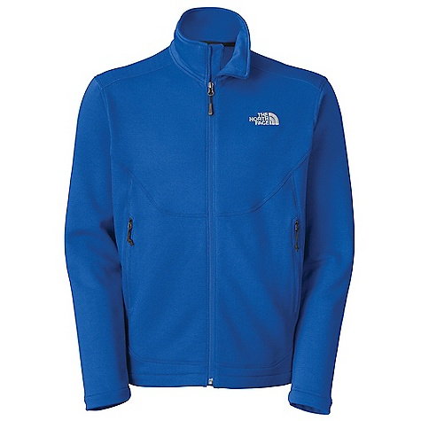 Free Shipping. The North Face Men's Slackline Fleece Jacket DECENT FEATURES of The North Face Men's Slackline Fleece Jacket Pigment-printed stretch fleece fabric Two secure-zip hand pockets Elastic-bound cuffs Imported The SPECS Average Weight: 8 oz / 230 g Center Back Length: 28in. 265 g/m2 (9.35 oz/yd2) 93% polyester 7% elastane print stretch fleece This product can only be shipped within the United States. Please don't hate us. - $98.95