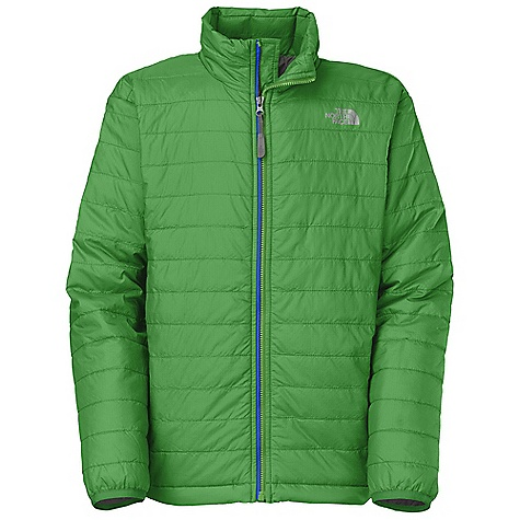 Free Shipping. The North Face Boys' Blaze Jacket DECENT FEATURES of The North Face Boys' Blaze Jacket Zippered hand pockets ID label Jacket stows in left-side hand pocket Hem cinch system Reflective logo at left chest and back right shoulder Imported The SPECS Average Weight: 11.29 oz / 320 g Center Back Length: 21.25in. Body: 20D 36 g/m2 100% nylon ripstop with DWR Lining: 50D 76 g/m2 100% recycled polyester taffeta with DWR (bluesign approved fabric) Insulation: 60 g/m2 FlashDry thermal insulation-60% polyester, 40% Minerale polyester with FlashDry This product can only be shipped within the United States. Please don't hate us. - $98.95