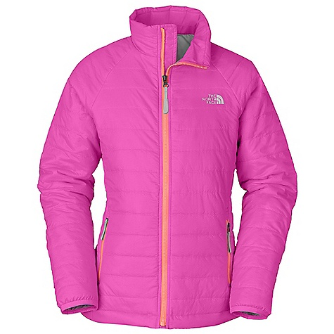 Free Shipping. The North Face Girls' Blaze Jacket DECENT FEATURES of The North Face Girls' Blaze Jacket Zippered hand pockets ID label Jacket stows in left-side hand pocket Reflective logo at left chest and back right shoulder Hem cinch system Imported The SPECS Average Weight: 11.29 oz / 320 g Center Back Length: 22in. Body: 20D 36 g/m2 100% nylon ripstop with DWR Lining: 50D 76 g/m2 100% recycled polyester taffeta with DWR Insulation: 60 g/m2 thermal insulation-60% polyester, 40% Minerale polyester with FlashDry This product can only be shipped within the United States. Please don't hate us. - $98.95
