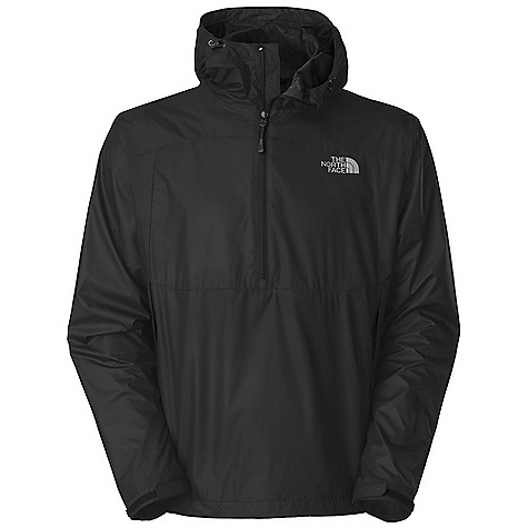 Free Shipping. The North Face Men's Stratosphere Anorak DECENT FEATURES of The North Face Men's Stratosphere Anorak Wind permeability rated at 0-5 CFM Mesh lined Attached, fully adjustable hood Two secure-zip hand pockets Stowable in hand pocket Self fabric Velcro adjustable cuffs Hem cinch-cord adjustment in pocket The SPECS Average Weight: 16 oz / 450 g Center Back Length: 28.5in. 50D 80 g/m2 (2.82 oz/yd2) 60% recycled polyester, 40% polyester ripstop with DWR This product can only be shipped within the United States. Please don't hate us. - $74.95