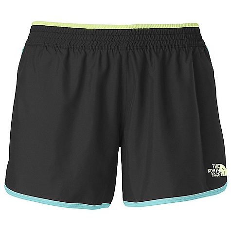 The North Face Women's Reflex Core Short DECENT FEATURES of The North Face Women's Reflex Core Short Fold down elastic waistband Locker loop Breathable mesh panels Pop logos Imported The SPECS Average Weight: 4.94 oz Inseam: 4in. Body: 80 g/m2 100% polyester poplin Panel: 141 g/m2 100% polyester tricot This product can only be shipped within the United States. Please don't hate us. - $31.95