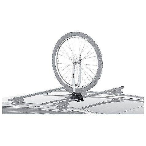 Fitness Features of the Thule Wheel On Roof Rack Fits all quick release wheels from 24in. to 29in. Fits Thule rack systems, round bars and most factory racks - $59.95