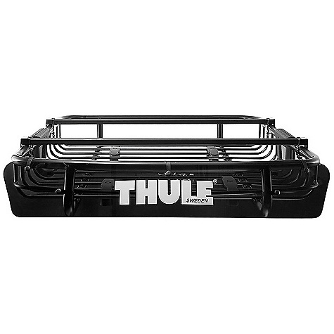 Entertainment On Sale. Free Shipping. Thule M.O.A.B. Basket DECENT FEATURES of the Thule M.O.A.B. Basket Durable, heavy-duty steel construction secures your gear during transport Comes with adjustable Thule load bars so you can attach other carriers to the basket Custom fairing for improved aerodynamics and reduced wind noise Easy to install and remove with Quick Mount hardware Carries up to 165 lbs with a wide variety of configurations Measures: 44in. x 39in. x 6.5in. Fits Thule rack systems, round bars and most factory racks OVERSIZE ITEM: We cannot ship this product by any expedited shipping method (3-Day, 2-Day or Next Day). Even if you pick that option, it will still go Ground Shipping. Sorry for being so mean. This product can only be shipped within the United States. Please don't hate us. - $341.96