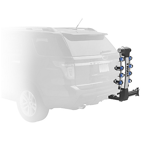 Fitness Free Shipping. Thule Apex Swing Away Bike Carrier FEATURES of the Thule Apex Swing Away Bike Carrier Swing-away design that allows a fully loaded hitch rack to swing away from the vehicle for rear of vehicle access Snug-Tite receiver lock virtually eliminates hitch rack movement in receiver and locks the hitch rack to the vehicle Hold Fast RDT (Road Dampening Technology) Cradles absorb the shock of the road protecting your bike during transport Arc design of the arms gives bikes greater clearance off the ground and provides greater distance between bikes preventing contact Increased mast height for improved ground clearance Patented No-Sway Cage to prevent bike to bike contact Heavy-duty integrated lock allows you to lock the bikes to rack and stores in the hitch rack when not in use Available in a 4 bike version only / Only fits 2in. receivers Integrated handle for easy carrying and handling Folding Hitch Switch allows the arms to fold when not in use and tilts the carrier down for rear of vehicle access - $519.95