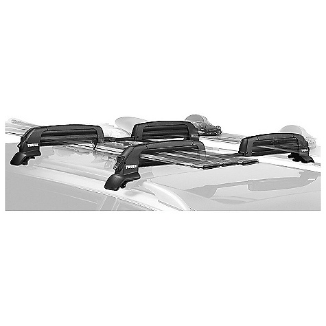 Ski On Sale. Free Shipping. Thule Snowcat Roof Rack DECENT FEATURES of the Thule Snowcat Roof Rack Telescoping steel bar adjusts to the width of your vehicle for a precise fit and optimum support Rubber arms grip and hold skis and boards securely without scratching the surfaces Integrated push button for easier operation 4 One-Key Locks included to secure carrier Fits up to 6 pairs of skis or up to 4 snowboards See Thule Fit Guide for list of vehicle fits OVERSIZE ITEM: We cannot ship this product by any expedited shipping method (3-Day, 2-Day or Next Day). Even if you pick that option, it will still go Ground Shipping. Sorry for being so mean. This product can only be shipped within the United States. Please don't hate us. - $215.96