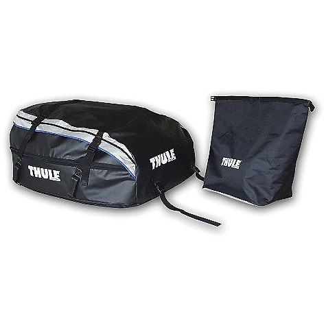 Entertainment On Sale. Free Shipping. Thule Tahoe Roof Top Cargo Bag DECENT FEATURES of the Thule Tahoe Roof Top Cargo Bag Expandable from 15 to 17 cubic feet Internal foam structure protects contents and keeps bag shape while loading and unloading Durable, taped-seam construction provides superior weather resistance Bag is held securely to load bars, side rails or both with heavy-duty double-stitched cargo straps 3-Sided zipper allows for easy access for loading and unloading Collapses fast and compact for easy storage - storage bag included Carries up to 17 cubic feet of cargo Fits Thule rack systems, round bars and most factory racks OVERSIZE ITEM: We cannot ship this product by any expedited shipping method (3-Day, 2-Day or Next Day). Even if you pick that option, it will still go Ground Shipping. Sorry for being so mean. This product can only be shipped within the United States. Please don't hate us. - $188.96