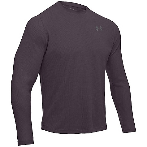 Fitness Under Armour Men's UA Waffle Long Sleeve Crew DECENT FEATURES of the Under Armour Men's UA Waffle Long Sleeve Crew Spun polyester fabric feels like cotton performs like Under Armour Lightweight waffle knit fabric construction traps heat and keeps you warm and comfortable Armour block Anti-odor technology 100% Recycled polyester The SPECS 5.29 oz, 100% Recycled Polyester - $39.95