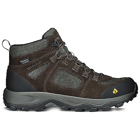 Camp and Hike On Sale. Free Shipping. Vasque Men's Vector WP Boot DECENT FEATURES of the Vasque Men's Vector WP UltraDry Waterproofing System Weight: Men's 9: 2 lbs 7 oz / 1108 g Last: Perpetuum Upper: 1.7mm Waterproof Suede, Abrasion Resistant Mesh, Rubber Toe and Heel Cap Footbed: Dual Density EVA Midsole: Molded EVA Outsole: Vasque Quest - $85.99
