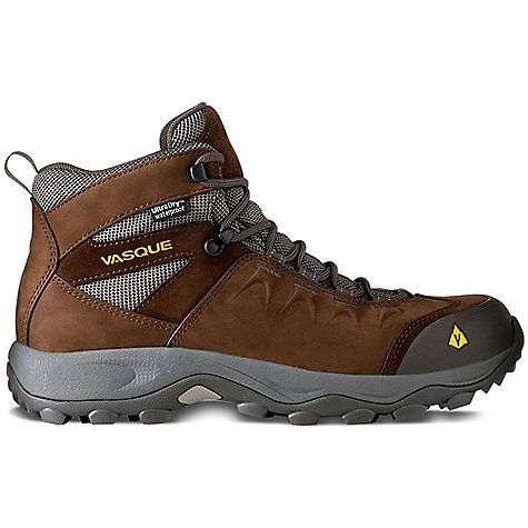 Camp and Hike Free Shipping. Vasque Men's Vista WP Boot DECENT FEATURES of the Vasque Men's Vista Ultradry UltraDry Waterproofing System Last: Perpetuum Upper: 1.9mm Waterproof Nubuck and Suede, Abrasion Resistant Mesh, Molded Rubber Toe Bumper Footbed: Dual Density EVA Midsole: Molded EVA Outsole: Vasque Quest Weight: Size: 9: 2 lbs 6 oz / 1080 g - $129.95