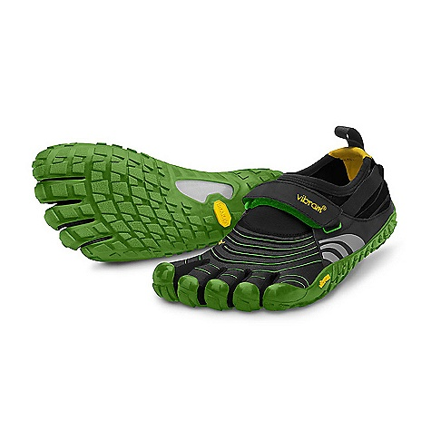 Fitness Free Shipping. Vibram Five Fingers Men's Spyridon DECENT FEATURES of the Vibram Five Fingers Men's Spyridon Shoe Provides a great balance of in.foot feelin. and protection on rugged terrain Multidirectional sole Vibram's 3D Cocoon technology allows for impact protection from stones and debris with minimal weight Coconut Active Carbon upper breathes naturally using 34% post industrial coconut fiber Adjustable hook-and-loop closure ensures a secure fit Reflective applications for safety after dark Machine washable. Air dry. The SPECS Sole: XSTrek Vibram Rubber Upper: Stretch Mesh and Polyamide Footbed: 3mm Polyurethane Insole Anti-Microbial Dri-Lex Sockliner Weight: Men's size 44 - 6.88 oz. each, 13.76 oz. per pair IDEAL USES Barefoot Running Light Trekking This product can only be shipped within the United States. Please don't hate us. - $109.95