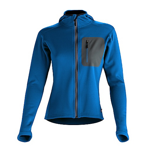 Ski Free Shipping. Wild Things Women's Customizable Wind Pro Hoody DECENT FEATURES of the Wild Things Women's Wind Pro Hoody Made with highly wind-resistant Polartec Wind Pro fleece Hard face jersey shell with fleece back Blocks the wind 4x more than traditional fleece Polartec Wind Pro is highly breathable and maintains 85% of the breathability of traditional fleece to prevent overheating Laminated pocket is made from Schoeller 61488 and reinforced with a perimeter stitch Scuba-style hood Laminated chest pocket for stashing keys or credit cards Made in USA CUSTOMIZABLE FEATURES Outer shell color Side panel fabric Side panel color Hood - standard hood or ponytail hood Optional chest pocket Side of the jacket for chest pocket placement Optional hand pockets Zipper color Custom stitch color Wild Things logo color Personal ID embroidery up to 15 characters long on either the chest or right sleeve Embroidery font and color The SPECS Fabric: 95% poly, 5% spandex Pocket: 88% nylon, 12% spandex Approximate Average Weight: 18 oz - $119.00