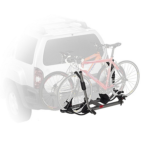 Fitness On Sale. Free Shipping. Yakima Hold Up 1 1-4IN Bike Rack DECENT FEATURES of the Yakima Hold Up 1 1/4 Inch Bike Rack Carries 2 bikes out of the box Available in either 2in. or 11/4in. (class 2 or 3) hitch receiver models Spring-loaded pin allows it to tilt down for easy rear-of-vehicle access and fold up when not in use This is Yakima's hitch carrier that holds the widest range of bike styles, shapes and sizes Best-in-class wheel straps 6' SKS security cable included Integrated bottle opener (beverage not included) The SPECS Weight: 49 lbs Dimension: 53in. wide, 33in. extension from hitch bolt hole (15.5in. when folded). Approximately 12in. between hitch bolt hole and first bike tray (7in. when folded) Capacity: 2 bikes, 60 lbs per bike Fits bicycles with 14in. - 29in. wheel diameter and up 48in. wheelbase  var dealerId=16; var newWindow=in.falsein.; var docHead = document.getElementsByTagName('head')[0];  var yakima_config = document.createElement('script'); window.onload=function(){  yakima_config.type = 'text/javascript';   yakima_config.src = 'http://yakima.com/dealers/yakima_configurator.js';   docHead.appendChild(yakima_config); }; OVERSIZE ITEM: We cannot ship this product by any expedited shipping method (3-Day, 2-Day or Next Day). Even if you pick that option, it will still go Ground Shipping. Sorry for being so mean. This product can only be shipped within the United States. Please don't hate us. - $377.10
