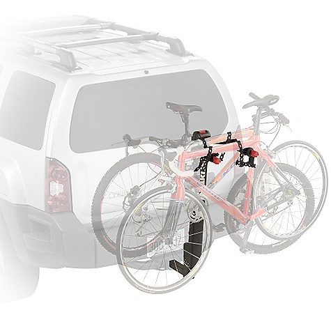 Fitness On Sale. Free Shipping. Yakima Double Down 2 Bike Rack DECENT FEATURES of the Yakima Double Down 2 Bike Rack Compatible with 2in. and 11/4in. (class 2 or 3) hitch receivers right out of the box Tilts away for rear-of-vehicle access Trigger finger technology lets you fold arms down with the press of a button Standard Switchblade anti-sway cradles eliminate bike-to-bike contact Optional Dead Lock available to lock your bikes to your hitch carrier, and the hitch carrier to your vehicle Durable powder coat finish Integrated bottle opener Patented Anti-Sway Cradles for superior bike protection Improved strapping for better stability Large, easy-to-grip triggers to fold down arms and mast Large covers to reduce risk of pinching Arms and mast fold down when not in use Fits 2in. and 1 1/4in. hitches out-of-the-box Built-in bottle opener Cable lock sold separately The SPECS Weight: 30 lbs Dimension: About 44in. highand 28in. extension from hitch bolt hole (13in. when folded.) About 11.5in. between back of mast and hitch bolt hole. Distance from the bolt hole to part of the rack nearest the vehicle is 9in.. Distance between arms is 12in. (center to center) Capacity: 2 bikes. Total weight, 90 lbs  var dealerId=16; var newWindow=in.falsein.; var docHead = document.getElementsByTagName('head')[0];  var yakima_config = document.createElement('script'); window.onload=function(){  yakima_config.type = 'text/javascript';   yakima_config.src = 'http://yakima.com/dealers/yakima_configurator.js';   docHead.appendChild(yakima_config); }; OVERSIZE ITEM: We cannot ship this product by any expedited shipping method (3-Day, 2-Day or Next Day). Even if you pick that option, it will still go Ground Shipping. Sorry for being so mean. This product can only be shipped within the United States. Please don't hate us. - $179.10