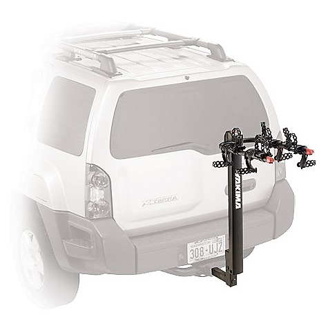 Fitness On Sale. Free Shipping. Yakima Double Down 5 Bike Rack DECENT FEATURES of the Yakima Double Down 5 Bike Rack Compatible with 2in. and 11/4in. (class 2 or 3) hitch receivers right out of the box Tilts away for rear-of-vehicle access Trigger Finger technology lets you fold arms down with the press of a button Standard Switch Blade anti-sway cradles eliminate bike-to-bike contact Optional Dead Lock available to lock your bikes to your hitch carrier, and the hitch carrier to your vehicle Durable powder coat finish Integrated bottle opener Patented Anti-Sway Cradles for superior bike protection Improved strapping for better stability Large, easy-to-grip triggers to fold down arms and mast Large covers to reduce risk of pinching Arms and mast fold down when not in use Fits 2in. and 1 1/4in. hitches out-of-the-box Built-in bottle opener Cable lock sold separately The SPECS Weight: 33.5 lbs Dimension: About 44in. highand 43in. extension from hitch bolt hole (13in. when folded.) About 11.5in. between back of mast and hitch bolt hole. Distance from the bolt hole to part of the rack nearest the vehicle is 9in.. Distance between arms is 12in. (center to center). Arms are approximately 27.6in. long Capacity: 5 bikes. Total weight, 125 lbs  var dealerId=16; var newWindow=in.falsein.; var docHead = document.getElementsByTagName('head')[0];  var yakima_config = document.createElement('script'); window.onload=function(){  yakima_config.type = 'text/javascript';   yakima_config.src = 'http://yakima.com/dealers/yakima_configurator.js';   docHead.appendChild(yakima_config); }; OVERSIZE ITEM: We cannot ship this product by any expedited shipping method (3-Day, 2-Day or Next Day). Even if you pick that option, it will still go Ground Shipping. Sorry for being so mean. This product can only be shipped within the United States. Please don't hate us. - $251.10