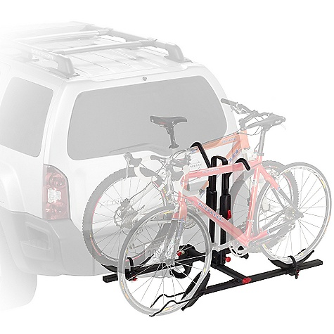 Fitness On Sale. Free Shipping. Yakima Stick Up Bike Rack DECENT FEATURES of the Yakima Stick Up Bike Rack Each tray is independently adjustable so this hitch carrier can transport bikes of varying heights and styles Carries up to 2 bikes (which would explain why we call it a in.2 bike hitch carrierin.) Folds up and out of the way when not in use Compatible with 2in. and 11/4in. hitch receivers right out of the box Best-in-class wheel straps The SPECS Weight: 42 lbs Dimension: 54in. wide, 37in. Extension from hitch bolt hole (16in. when folded). Approximately 13in. between hitch bolt hole and first bike tray (6in. when folded) Capacity: 2 bikes, 45 lbs per bike  var dealerId=16; var newWindow=in.falsein.; var docHead = document.getElementsByTagName('head')[0];  var yakima_config = document.createElement('script'); window.onload=function(){  yakima_config.type = 'text/javascript';   yakima_config.src = 'http://yakima.com/dealers/yakima_configurator.js';   docHead.appendChild(yakima_config); }; OVERSIZE ITEM: We cannot ship this product by any expedited shipping method (3-Day, 2-Day or Next Day). Even if you pick that option, it will still go Ground Shipping. Sorry for being so mean. This product can only be shipped within the United States. Please don't hate us. - $233.10
