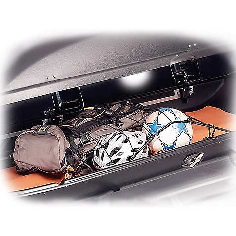The Yakima Skybox Cargo Net integrates with cargo box track system to keep gear in place and prevent your box from sounding like a giant maraca. Features of the Yakima Skybox Cargo Net Hooks right into the integrated track system of the Skybox Cargo box Series - $30.00