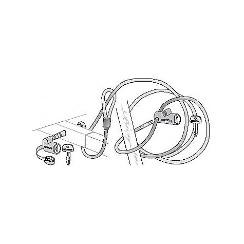 Free Shipping. Yakima LockUp Cable Lock FEATURES of the Yakima LockUp Cable Lock 10' locking cable secures bikes to a hitch rack HitchLock secures rack to the car SKS Lock Cores included 5 minute install - $60.00