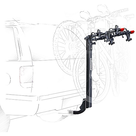 Fitness On Sale. Free Shipping. Yakima BigHorn 4 Bike Carrier DECENT FEATURES of the Yakima BigHorn 4 Bike Carrier 4-bike capacity in a stable hitch carrier style Compatible with 11/4in. hitch receiver (no adapter needed) Tilts away for rear-of-vehicle access Standard Switchblade anti-sway cradles eliminate bike-to-bike contact Optional Dead Lock available to lock bikes to rack, and rack to car The SPECS Weight: 30 lbs Dimension: About 41 1/2in. highand41in. extension from hitch bolt hole. About 11 5/8in. between back of mast and hitch bolt hole. Distance between arms is 11.5in. (center to center) Capacity: Class II hitch: 4 bikes up to 120 lbs, Class I hitch: 3 bikes up to 90 lbs  var dealerId=16; var newWindow=in.falsein.; var docHead = document.getElementsByTagName('head')[0];  var yakima_config = document.createElement('script'); window.onload=function(){  yakima_config.type = 'text/javascript';   yakima_config.src = 'http://yakima.com/dealers/yakima_configurator.js';   docHead.appendChild(yakima_config); }; OVERSIZE ITEM: We cannot ship this product by any expedited shipping method (3-Day, 2-Day or Next Day). Even if you pick that option, it will still go Ground Shipping. Sorry for being so mean. This product can only be shipped within the United States. Please don't hate us. - $179.10