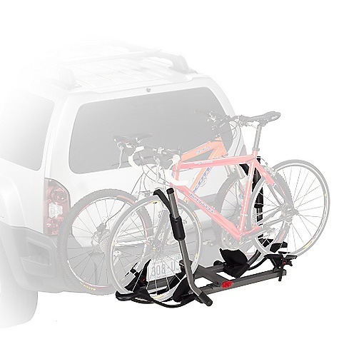 Fitness On Sale. Free Shipping. Yakima Hold Up 2IN Bike Rack DECENT FEATURES of the Yakima Hold Up 2 Inch Bike Rack Carries 2 bikes out of the box, or 4 bikes with optional 2-bike add-on (2in. Receiver Model Only) Available in either 2in. or 11/4in. (class 2 or 3) hitch receiver models Spring-loaded pin allows it to tilt down for easy rear-of-vehicle access and fold up when not in use This is Yakima's hitch carrier that holds the widest range of bike styles, shapes and sizes Best-in-class wheel straps 6' SKS security cable included Integrated bottle opener (beverage not included) The SPECS Weight: 49 lbs Dimension: 53in. wide, 33in. extension from hitch bolt hole (15.5in. when folded). Approximately 12in. between hitch bolt hole and first bike tray (7in. when folded) Capacity: 2 bikes, 60 lbs per bike, (upgrade to 4 bikes, 240 lbs total with the Plus2 accessory.) Fits bicycles with 14in.-29in. wheel diameter and up 48in. wheelbase  var dealerId=16; var newWindow=in.falsein.; var docHead = document.getElementsByTagName('head')[0];  var yakima_config = document.createElement('script'); window.onload=function(){  yakima_config.type = 'text/javascript';   yakima_config.src = 'http://yakima.com/dealers/yakima_configurator.js';   docHead.appendChild(yakima_config); }; OVERSIZE ITEM: We cannot ship this product by any expedited shipping method (3-Day, 2-Day or Next Day). Even if you pick that option, it will still go Ground Shipping. Sorry for being so mean. This product can only be shipped within the United States. Please don't hate us. - $377.10