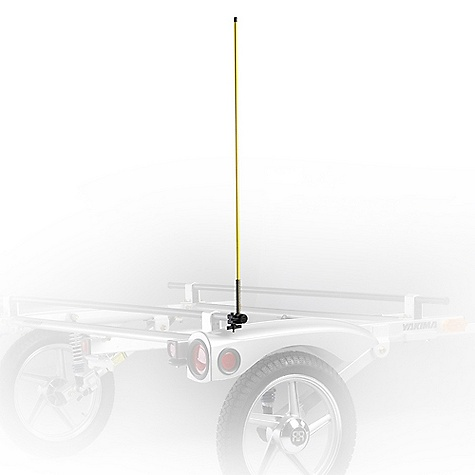 Features of the Yakima Safety Pole and Clip 40in. tall bright yellow fiberglass safety pole Attaches to the loadbar or trailer frame Makes trailer more visible at all times Especially useful when backing up - $29.00