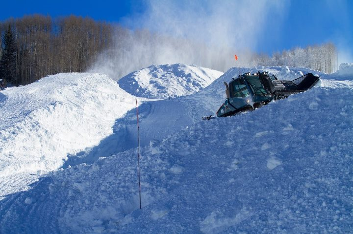 Snowboard Work has started on the 22 foot super pipe in Golden Peak. T-Minus 51 days until the Burton US Open!